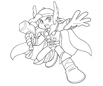 #5 Thor Coloring Page
