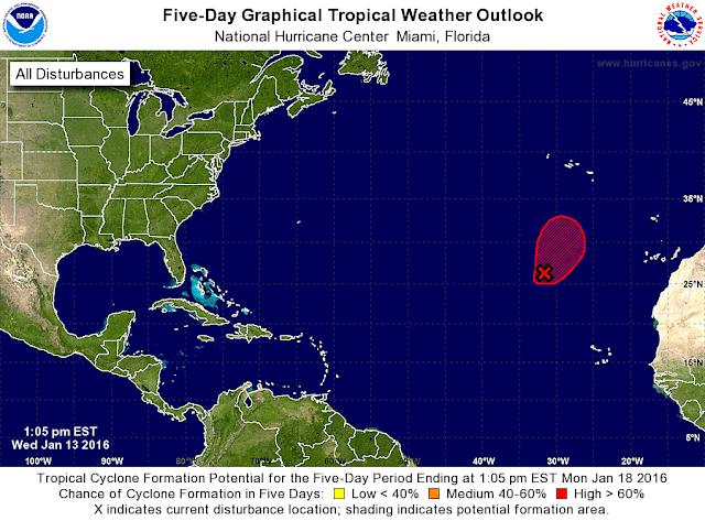 La tormenta subtropical Alex no afectará a Canarias