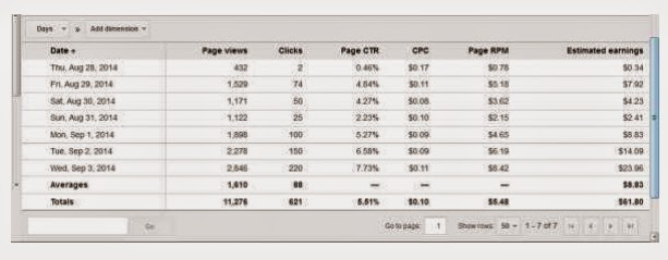 Istilah dan Variable Performance Reports Google Adsense