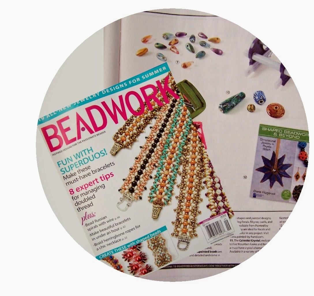 Featured in Beadwork Magazine!