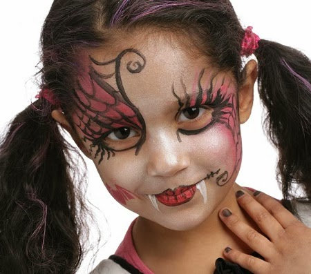 MuyVariado.com: Caras Pintadas para Niñas, Diseño Draculina