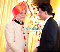 Shahrukh and Abhishek at Wedding reception of Govind Namdev's daughter Megha Namdev & Rajiv Verma