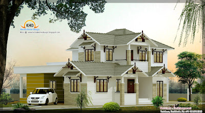 duplex house plan - 236 Square meter (2544 Sq.Ft.) - October 2011