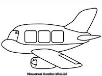 Gambar Pesawat Terbang Untuk Diwarnai