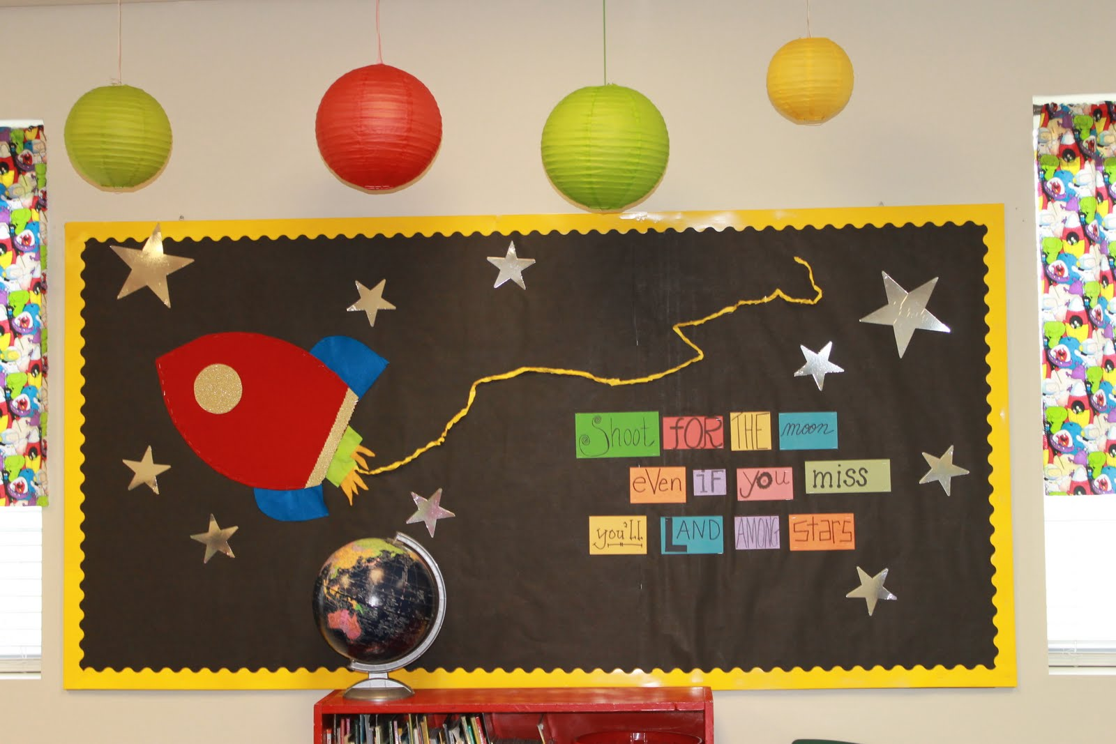 Snaggletooths and freckles classroom photos - Outer space classroom decorations ...