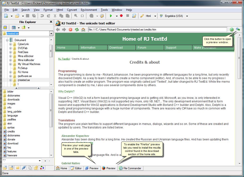 RJ TextEd 8.52 RJ-TextEd-Screenshot
