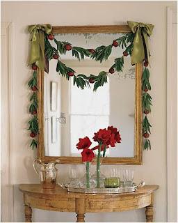 Natal,+Hall+de+entrada+decorado6 Sugestões para decoração natalina no Hall de entrada ou corredor.