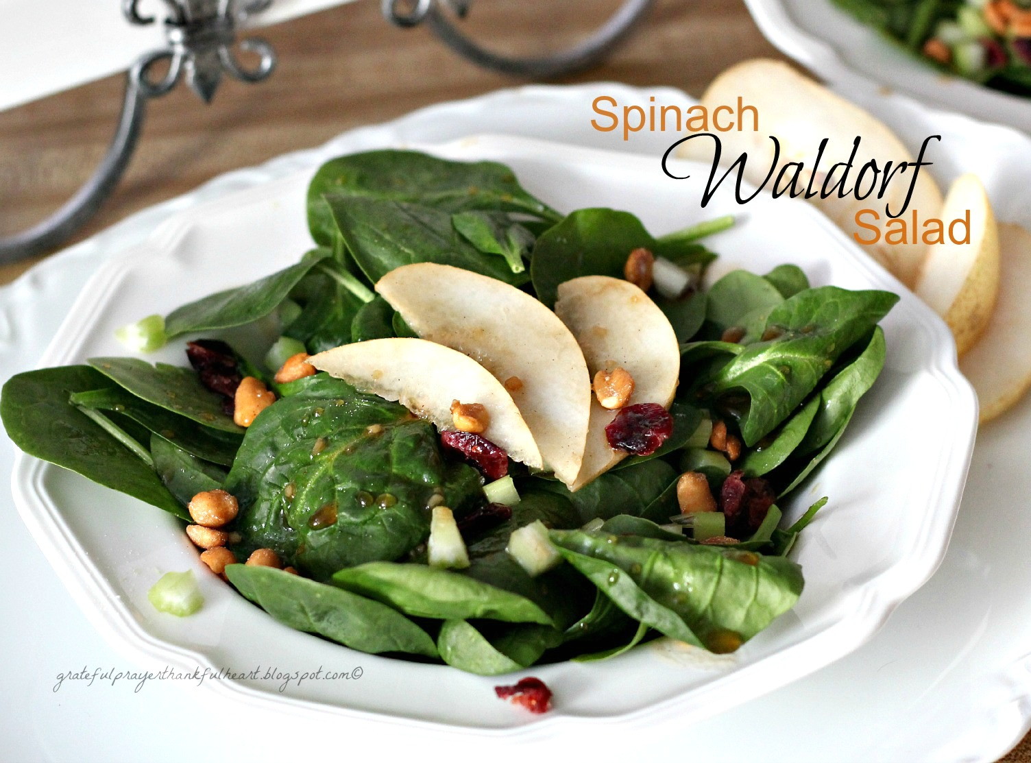 With a Grateful Prayer and a Thankful Heart: Spinach Waldorf Salad