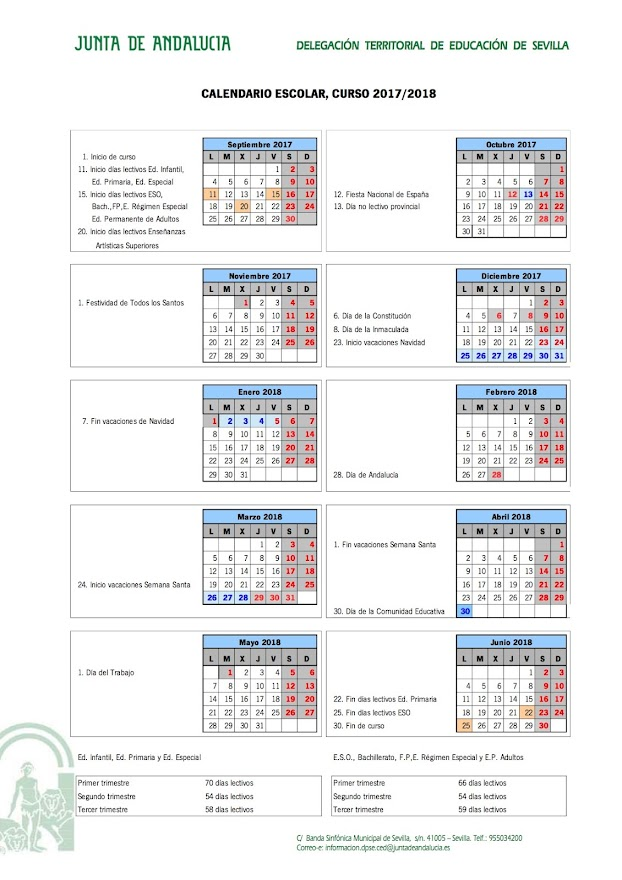 CALENDARIO ESCOLAR 17_18