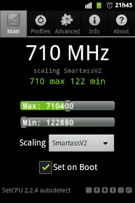 Fazendo Overclock no LG P500!