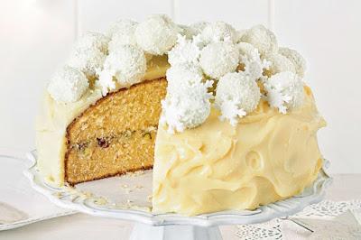 White Christmas truffle mud cake Recipe