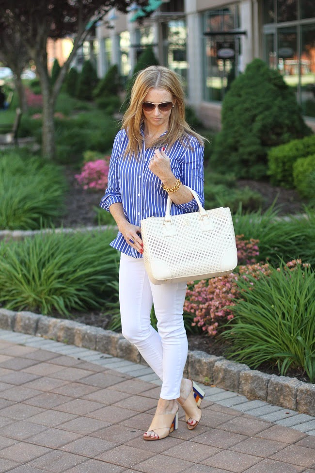 jcrew casual stripe shirt