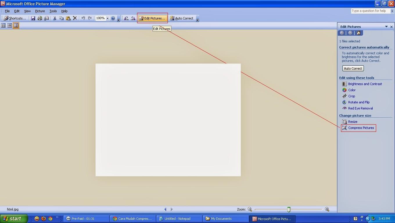 Cara Kompress Dan Resize Ukuran Gambar atau Foto Mudah