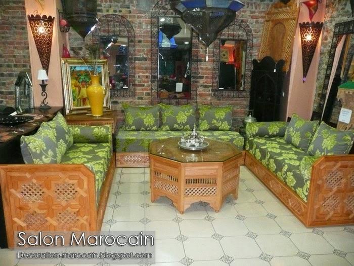 Conception salon marocain unique exceptionnelle 2014