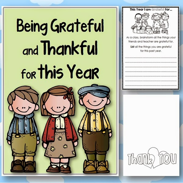 Being Grateful and Thankful Freebie Clever Classroom blog