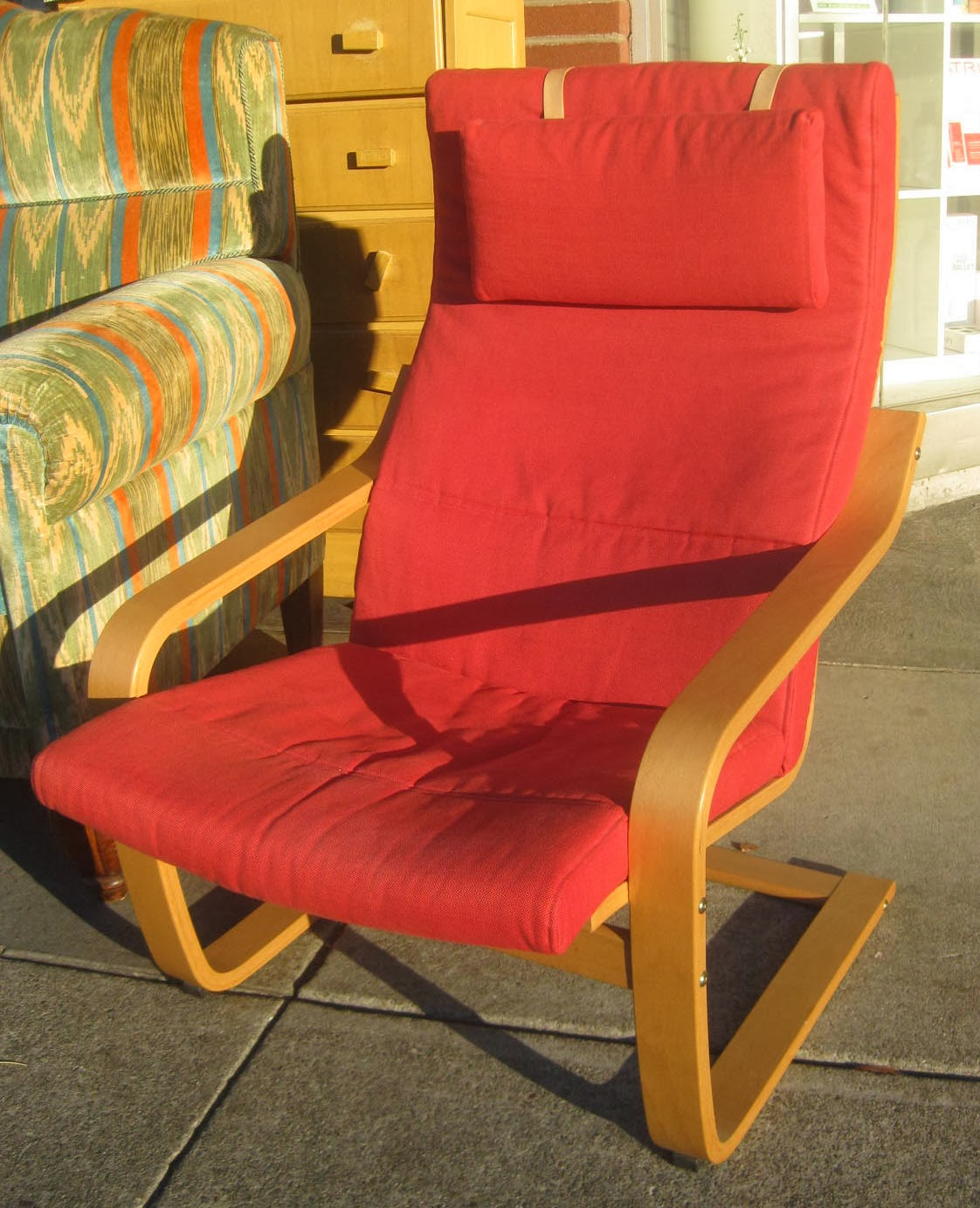 Uhuru furniture collectibles sold red bentwood ikea chair 35 - Bentwood chairs ikea ...
