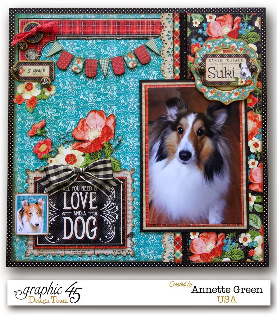 Scrapbook ideas for dogs - Video Tutorial Speedy Pocket Style Scrapbook Layouts