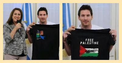 BENARKAH : Ronaldo-Messi Lawan di Lapangan, Sejiwa Dukung Palestina ?