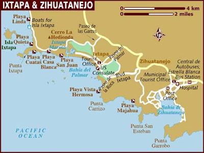 Mapa de Zihuatanejo Política Regional