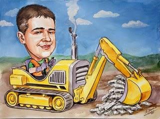 Gave for føreren gravemaskiner