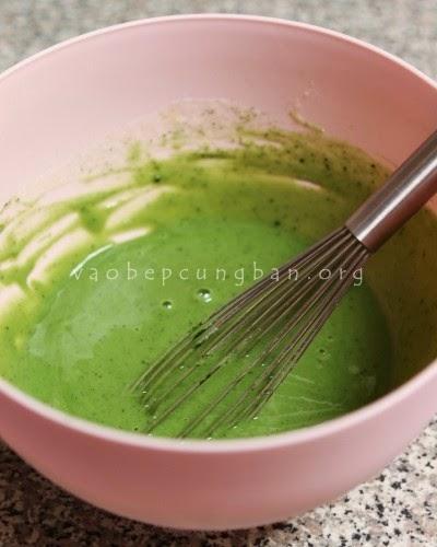 Cách làm bánh Mochi trà xanh nhân đậu xanh1