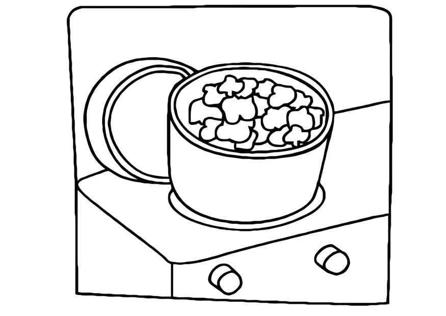 Popcron Coloring Page