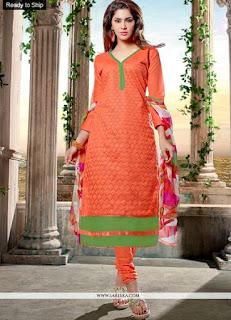 Trendy Chanderi Cotton Shalwar Kameez / Modish Faux Chiffon Fancy Suits