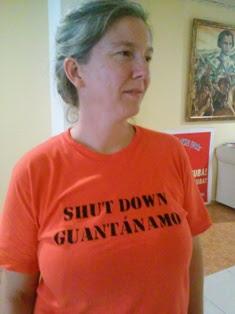 Frida Merrigan, activista norteamericana e integrante del Grupo Stop Torture (Detengan la Tortura)