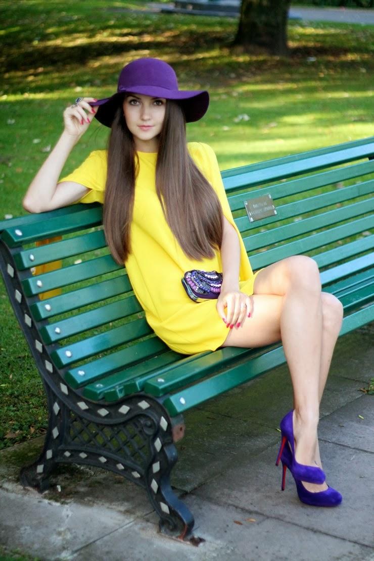 christian louboutin, purple heels, colour blocking, кристиан лабутэн, фиолетовые туфли