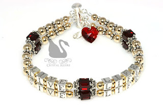 Most Pinned! Diane's Custom Live Life Give Life Heart Survivor Bracelet (B113-HRT-II)