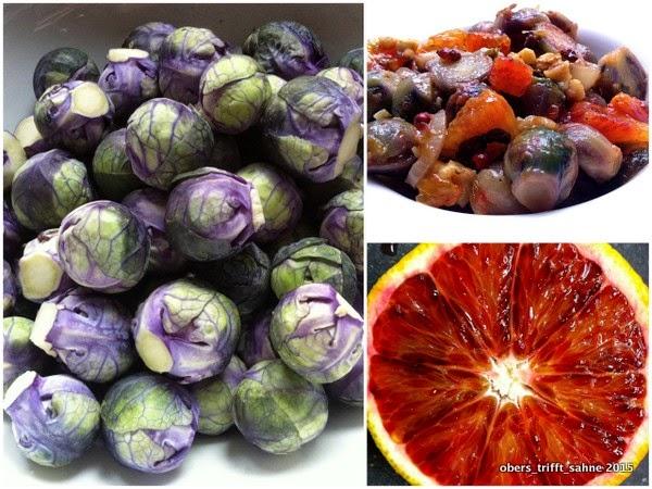 Salat Rosenkohl mit Blutorange