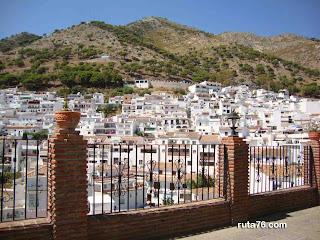 Típicas casas blancas de Mijas Pueblo, málaga andalucia
