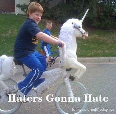 Haters Gonna Hate Funny Girl Bike