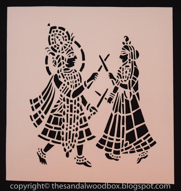 The Sandalwood Box: Sanjhi Art