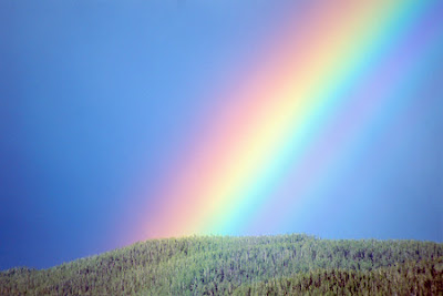 An image showing colors on a rainbow