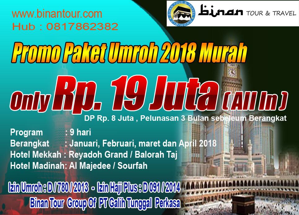 Umrah promo Binan Tour & Travel