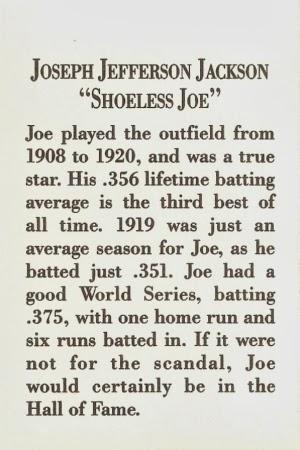 shoeless joseph jefferson jackson essay Shoeless joe jackson position: outfielder full name: joseph walker jackson nicknames: shoeless joe wofford or jefferson.