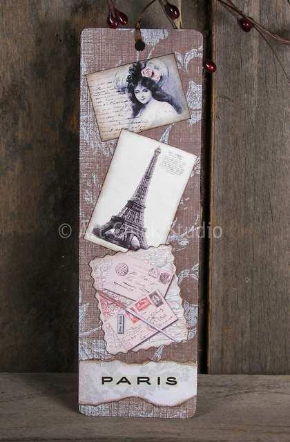 Paris Altered Art Bookmark