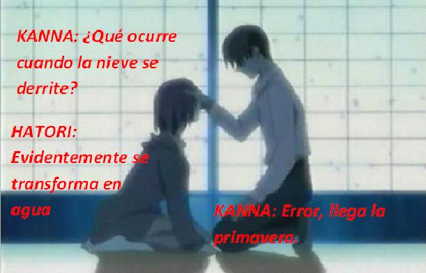 Frases con fotos del anime. Hattori