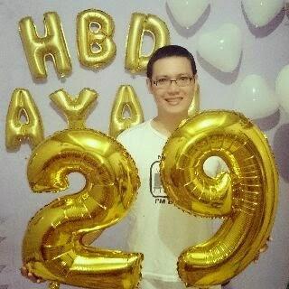 Balon Foil Angka + Huruf Warna Gold