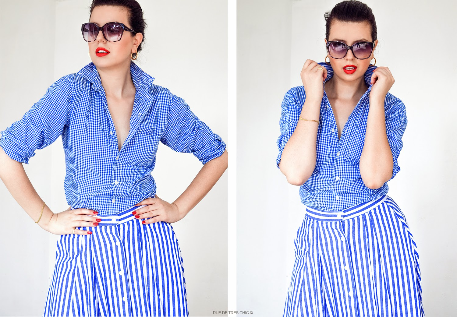 Gingham Fashion Trend 2015 Styling Outfit Ideas 1