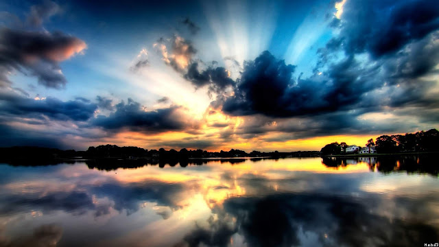 Earth Reflection Landscape Wallpaper