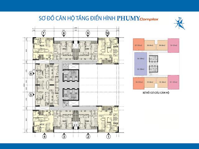 Mặt bằng thiết kế căn hộ chung cư Phú Mỹ Complex - N01T4 Ngoại Giao Đoàn