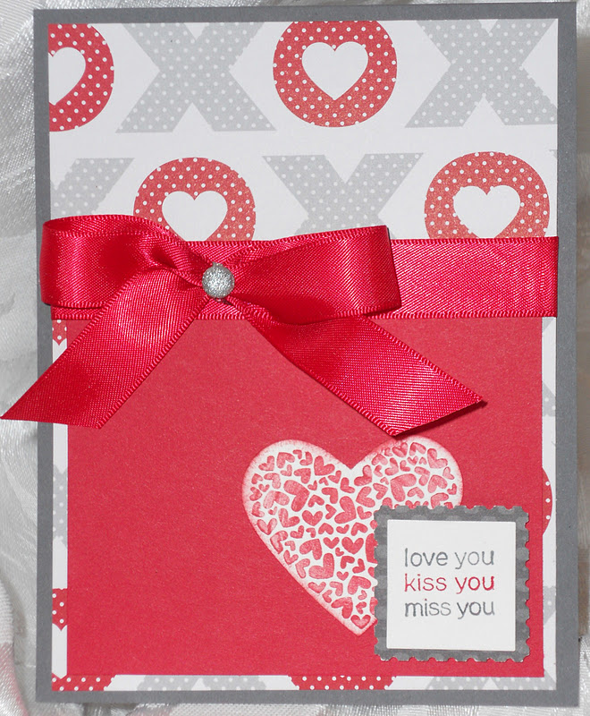 Stampin and scrappin val love you miss you kiss you card i threw this card together tonight out of some scraps my husband has been gone on a trip all week so my daughter and i have been waiting on baited breath m4hsunfo