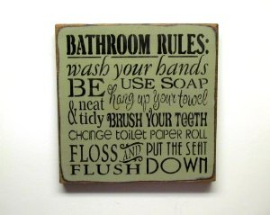 Beautiful Decorative Bathroom Signs