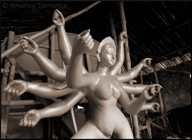 Durga Puja Idols in the Making
