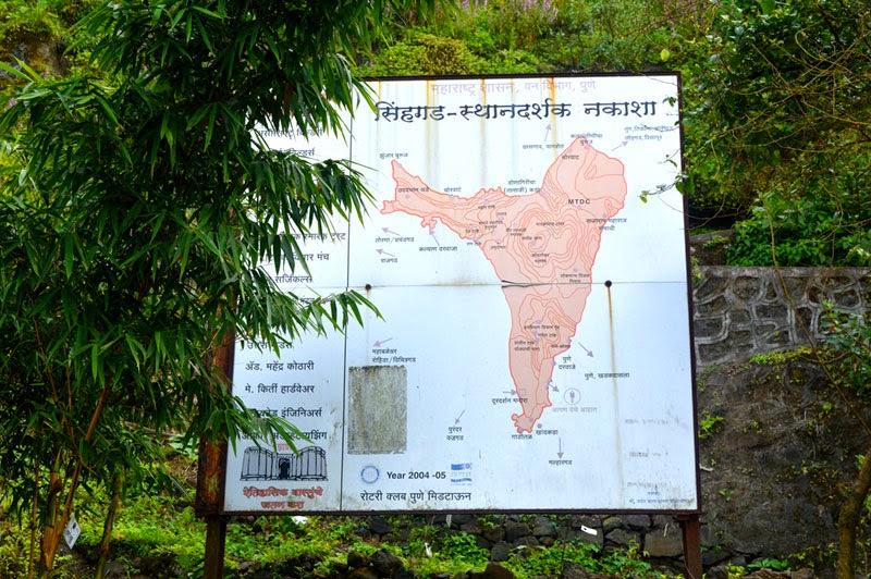 map of sinhagad