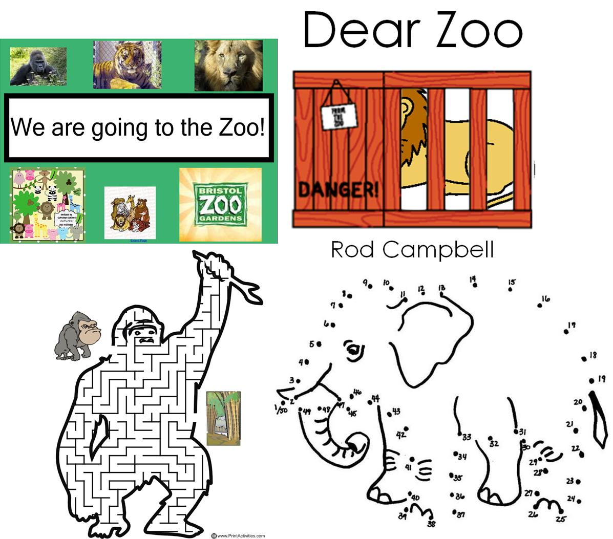 worksheet Dear Zoo Worksheet teaching resource zoo animals ks1 early years infant topic iwb