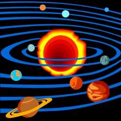 dessin des planètes du système solaire