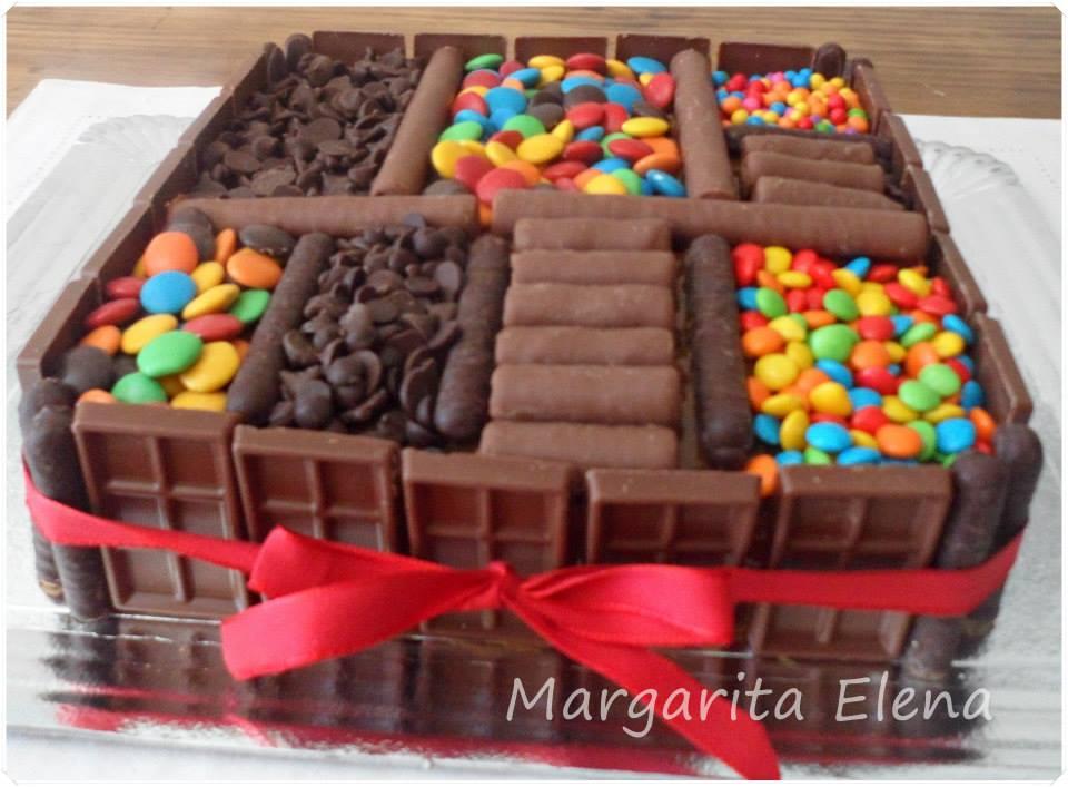 Tortas decoradas con golosinas for Decoracion de tortas caseras